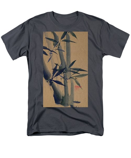 Blue Bamboo Men's T-Shirt  (Regular Fit) by Robin Miller-Bookhout