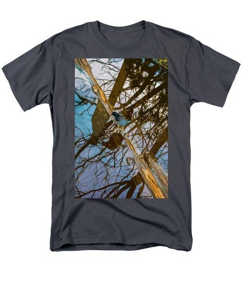 Blue Bird Men's T-Shirt  (Regular Fit) by Josy Cue