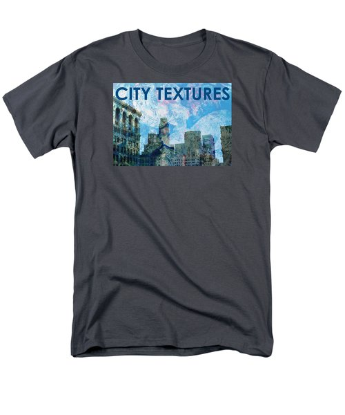 Blue City Textures Men's T-Shirt  (Regular Fit) by John Fish