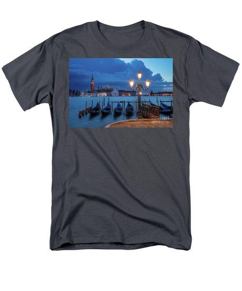 Men's T-Shirt  (Regular Fit) featuring the photograph Blue Dawn Over Venice by Brian Jannsen