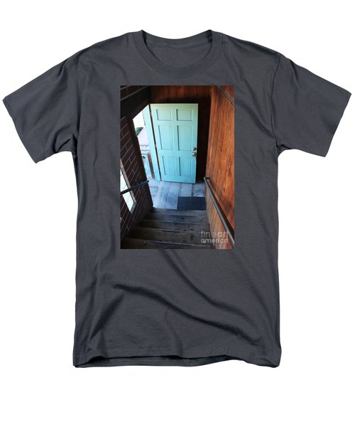 Men's T-Shirt  (Regular Fit) featuring the photograph Blue Door by Cheryl Del Toro