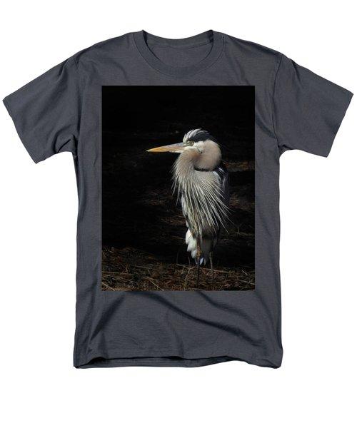 Blue Heron Gaze Men's T-Shirt  (Regular Fit) by Deborah Smith