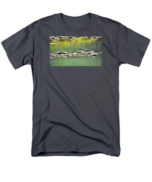Blue Heron On The Chattahoochie Men's T-Shirt  (Regular Fit) by James Potts