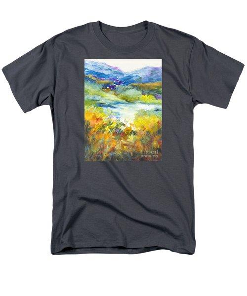 Blue Hills Men's T-Shirt  (Regular Fit) by Glory Wood