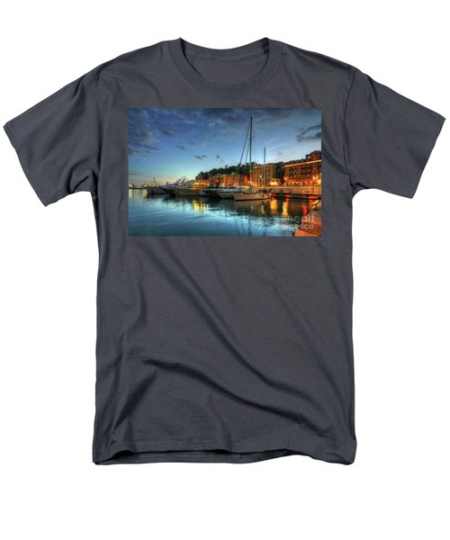 Men's T-Shirt  (Regular Fit) featuring the photograph Blue Hour At Port Nice 2.0 by Yhun Suarez