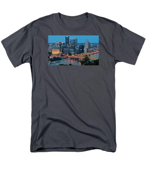 Blue Hour In Pittsburgh Men's T-Shirt  (Regular Fit)