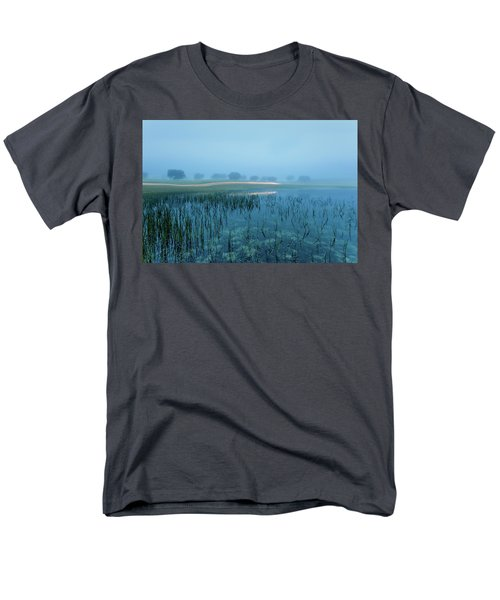 Men's T-Shirt  (Regular Fit) featuring the photograph Blue Morning Flash by Jorge Maia