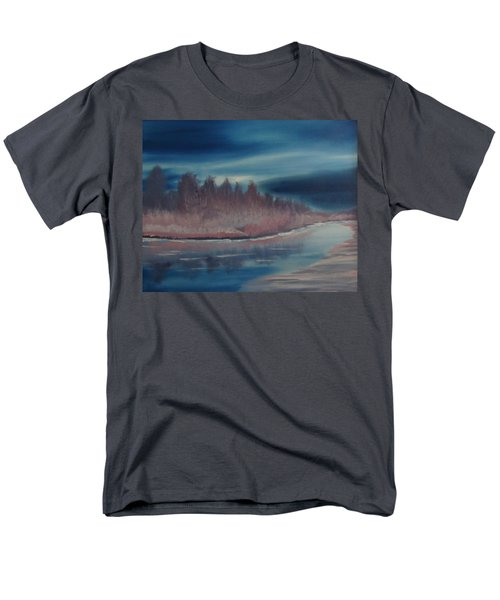 Men's T-Shirt  (Regular Fit) featuring the painting Blue Nightfall Evening by Rod Jellison