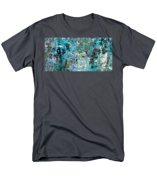 Men's T-Shirt  (Regular Fit) featuring the painting Blue Ocean - Abstract Art by Carmen Guedez