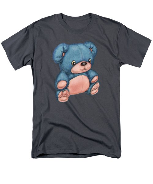 Blue Pink Bear Men's T-Shirt  (Regular Fit) by Andy Catling