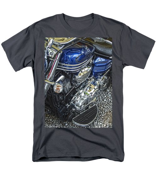 Blue Warrior Hdr Men's T-Shirt  (Regular Fit) by Diane E Berry