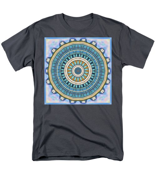 Men's T-Shirt  (Regular Fit) featuring the digital art Blue Wheeler 1 by Wendy J St Christopher