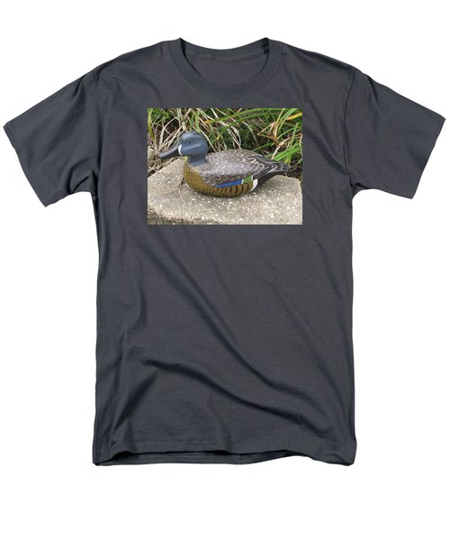 Men's T-Shirt  (Regular Fit) featuring the sculpture Blue-winged Duck by Kevin F Heuman