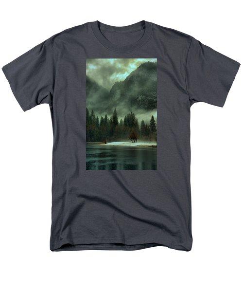 Blustery Yosemite Men's T-Shirt  (Regular Fit) by Josephine Buschman