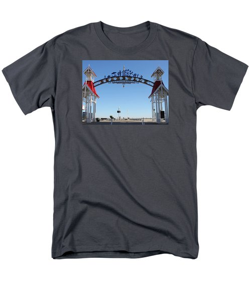 Boardwalk Arch At N Division St Men's T-Shirt  (Regular Fit) by Robert Banach