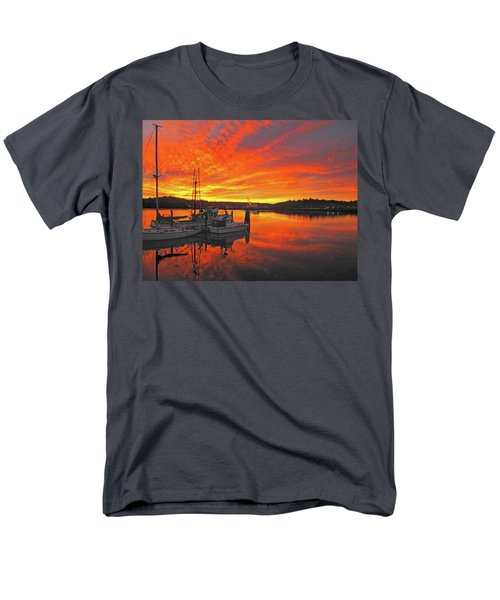 Men's T-Shirt  (Regular Fit) featuring the photograph Boardwalk Brilliance With Fish Ring by Suzy Piatt