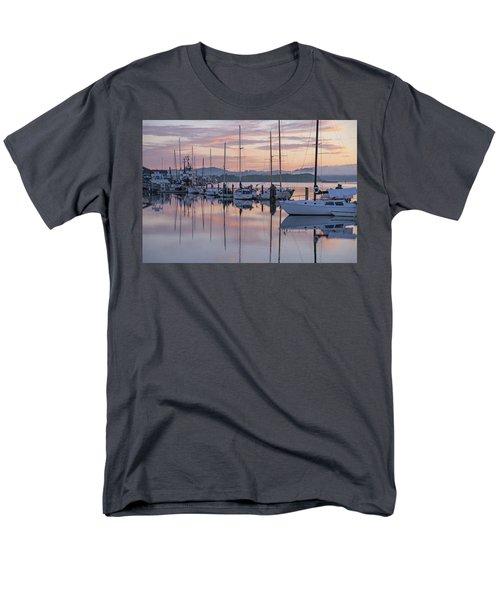 Boats In Pastel Men's T-Shirt  (Regular Fit) by Suzy Piatt