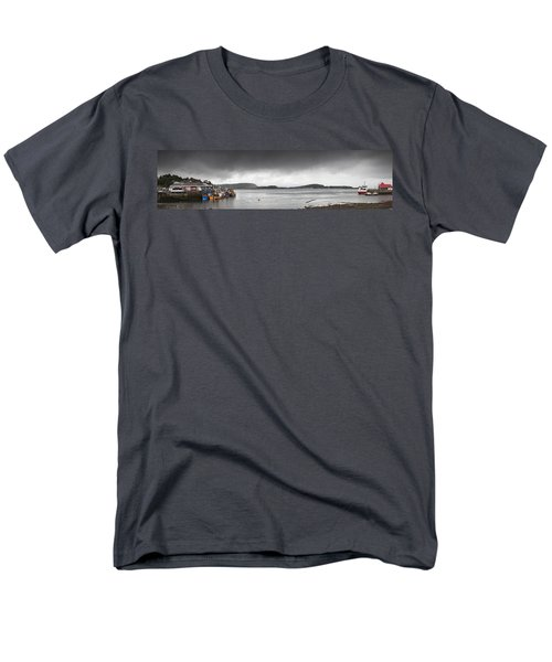 Boats Moored In The Harbor Oban Men's T-Shirt  (Regular Fit) by John Short