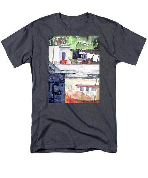 Boats On The Quay Men's T-Shirt  (Regular Fit)