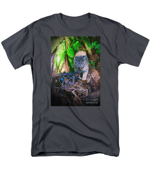 Bobcat On The Hunt Men's T-Shirt  (Regular Fit) by Ansel Price