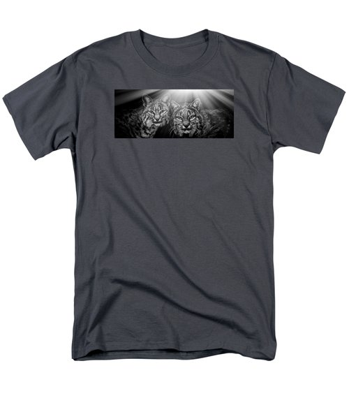 Men's T-Shirt  (Regular Fit) featuring the mixed media Bobcats by Elaine Malott