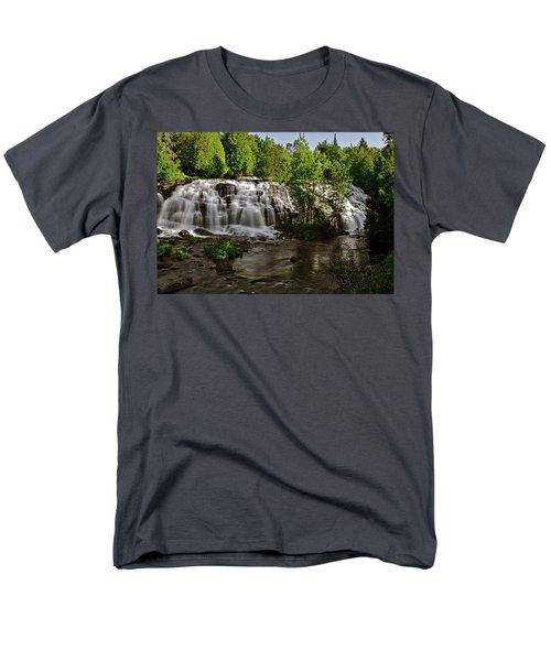 Men's T-Shirt  (Regular Fit) featuring the photograph Bond Falls - Haight - Michigan 003 by George Bostian