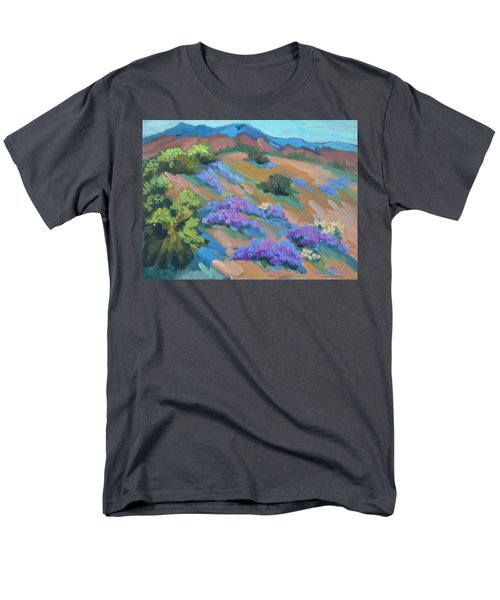 Men's T-Shirt  (Regular Fit) featuring the painting Borrego Springs Verbena by Diane McClary