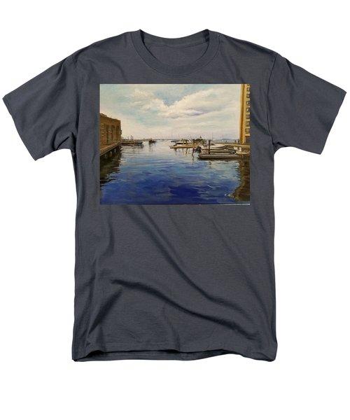 Boston Harbor Men's T-Shirt  (Regular Fit) by Rose Wang