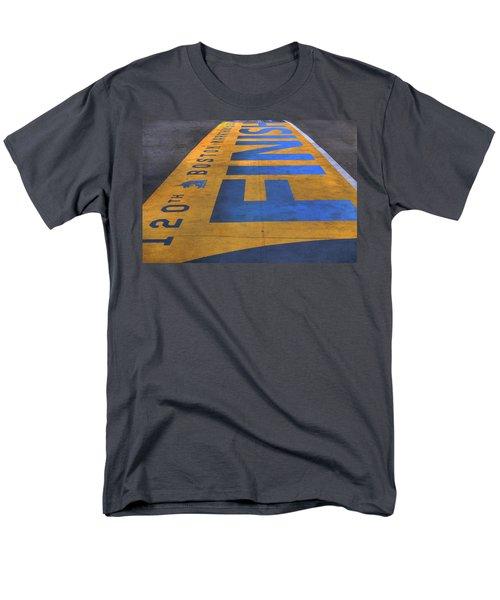 Boston Marathon Finish Line Men's T-Shirt  (Regular Fit) by Joann Vitali