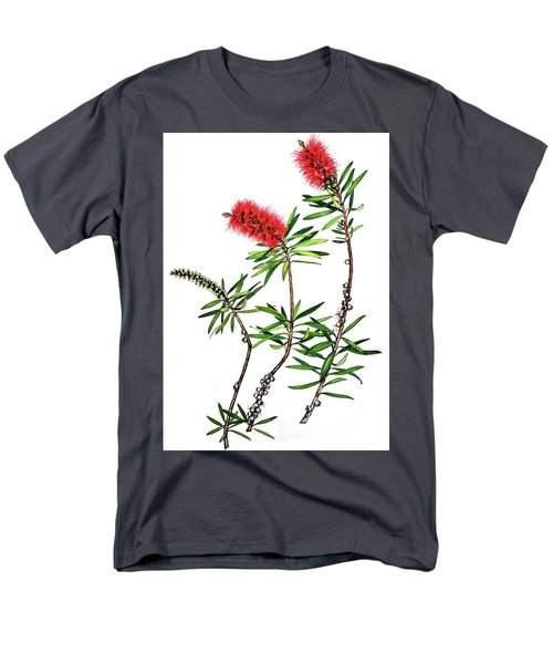 Bottle Brush Men's T-Shirt  (Regular Fit) by Heidi Kriel