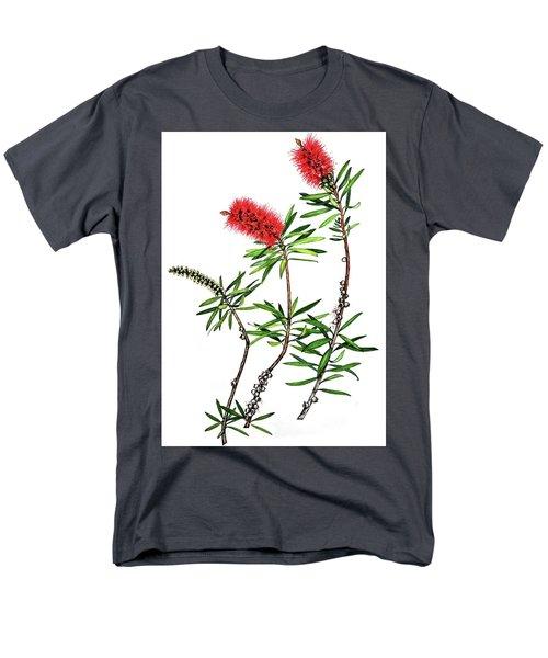 Men's T-Shirt  (Regular Fit) featuring the painting Bottle Brush by Heidi Kriel