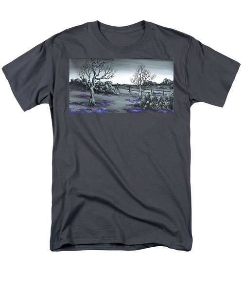 Men's T-Shirt  (Regular Fit) featuring the painting Boundry Fence. by Kenneth Clarke