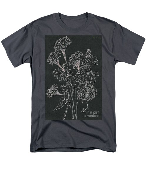 Men's T-Shirt  (Regular Fit) featuring the painting Bouquet Of Flowers  by Vicki  Housel