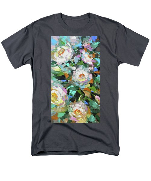 Men's T-Shirt  (Regular Fit) featuring the painting Bouquet Of Peonies  by Dmitry Spiros