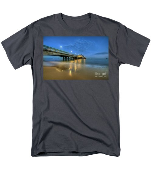 Men's T-Shirt  (Regular Fit) featuring the photograph Bournemouth Pier Blue Hour by Yhun Suarez
