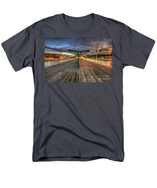 Men's T-Shirt  (Regular Fit) featuring the photograph Bournemouth Pier Sunrise 2.0 by Yhun Suarez