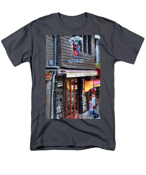 Men's T-Shirt  (Regular Fit) featuring the photograph Boutique Les Terasses Poulard by Tom Prendergast