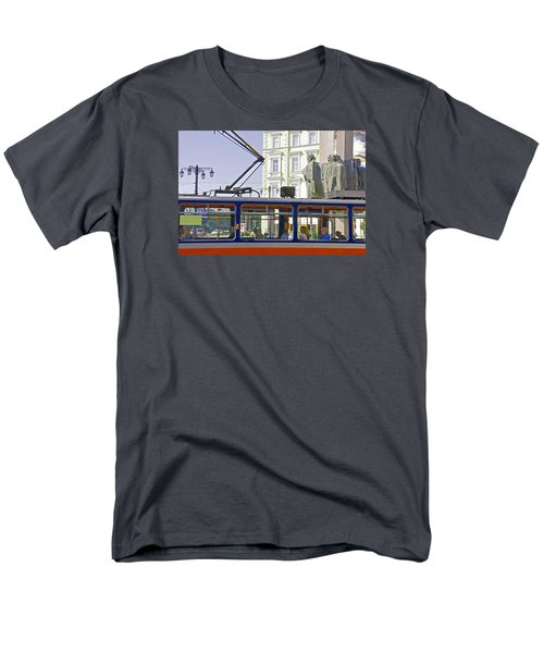 Men's T-Shirt  (Regular Fit) featuring the photograph Bratislava Trolley by Dennis Cox WorldViews