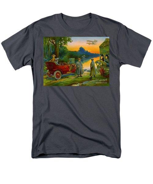 Brave New World 1910 Men's T-Shirt  (Regular Fit) by Padre Art