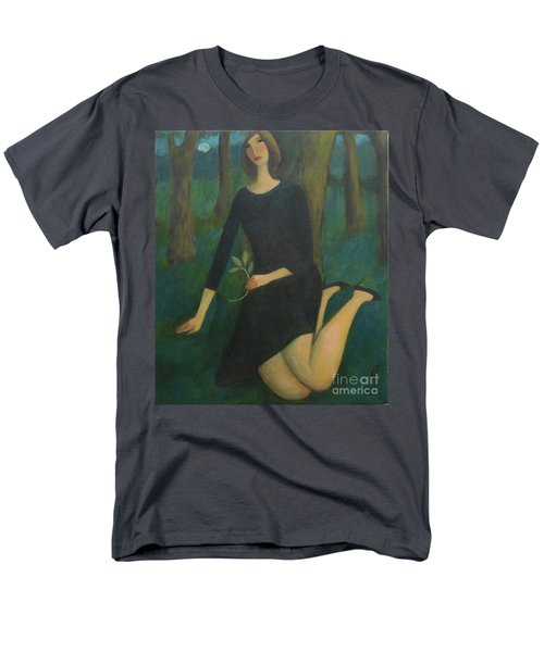 Men's T-Shirt  (Regular Fit) featuring the painting Break In The Evening by Glenn Quist