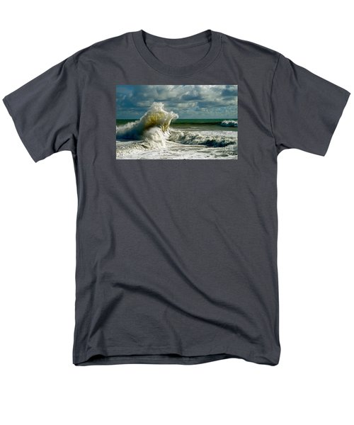 Breakwater Backwash Men's T-Shirt  (Regular Fit) by Michael Cinnamond