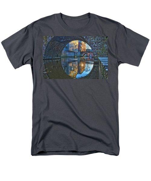 Bridges Across Binnendieze In Den Bosch Men's T-Shirt  (Regular Fit) by Frans Blok