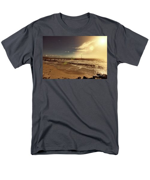 Men's T-Shirt  (Regular Fit) featuring the photograph Brighton Beach Pier by Douglas Barnard