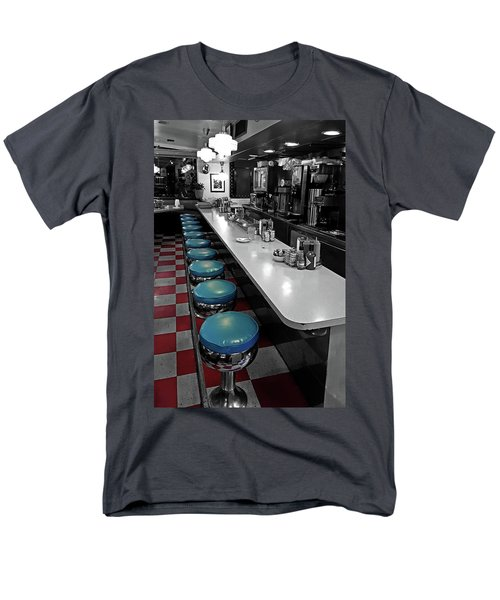 Broadway Diner Chairs Men's T-Shirt  (Regular Fit) by Christopher McKenzie