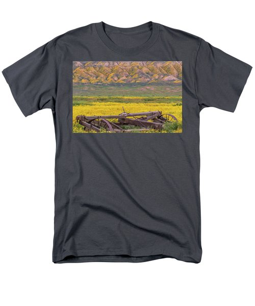 Broken Wagon In A Field Of Flowers Men's T-Shirt  (Regular Fit) by Marc Crumpler