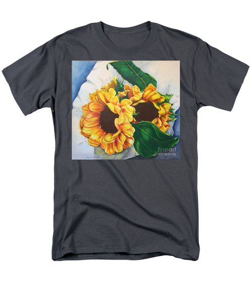Men's T-Shirt  (Regular Fit) featuring the painting Brooklyn Sun by Angela Armano