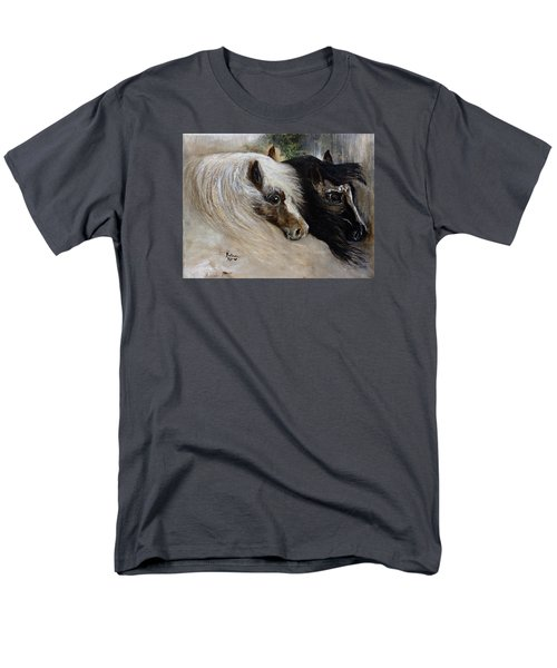 Men's T-Shirt  (Regular Fit) featuring the painting Brothers by Barbie Batson