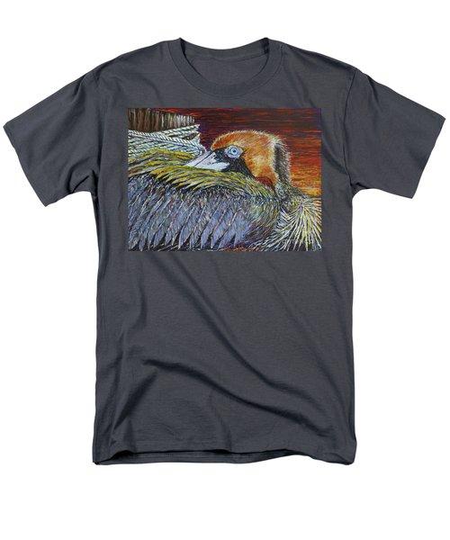Brown Pelican Men's T-Shirt  (Regular Fit)
