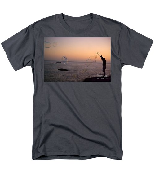 Bubbles On The Beach Men's T-Shirt  (Regular Fit) by Jim And Emily Bush