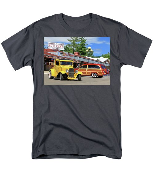 Men's T-Shirt  (Regular Fit) featuring the photograph Bud Tent Hot Rods by Christopher McKenzie